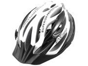 Black White Outdoor Mountain Bike Cycling MTB 58-62cm Bicycle Helmet With Visor