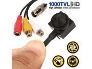 Wired HD 1000TVL Mini HIDDEN Pinhole Audio CCTV Security Camera Surveilance