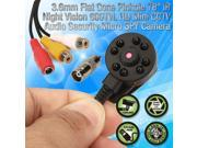 5 MegaPixel 600TVL Mini HIDDEN Pinhole Camera with Audio IR Night Vision Secret