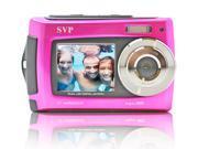 SVP AQUA Underwater 18MP Digital Camera + Camcorder w/ Dual LCDs Display - Pink