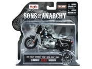 "Maisto Sons of Anarchy 2008 HD Dyna Superglide Sport Clarence ""Clay"" Morrow Diecast Vehicle, 1:18-Scale"