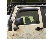 Rugged Ridge 11349.11 Window Visors Matte Black 07-14 Jeep 2-Door Wrangler