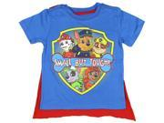 Nickelodeon Little Boys' Paw Patrol Small But Tough Cape T-Shirt