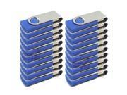 Lot20 20 Pcs 20x Blue 1GB 1G USB 2.0 Hi-Speed Flash Memory Drive Thumb Swivel Fold Design Rotating USB2.0 U Disk