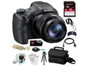 """Sony DSC-HX300 20.4MP Digital Camera with 50x Optical Zoom and 3"""" LCD (Black) Bundle"""