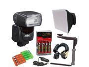 Nikon SB-700 AF Speedlight Flash + Deluxe Bracket Accessory Kit