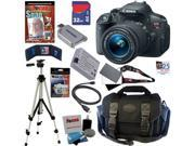 Canon t5i EOS Rebel T5i 18.0 MP CMOS Digital Camera with EF-S 18-55mm f/3.5-5.6 IS STM Zoom Lens + 11pc Bundle 32GB Best DSLR Camera Kit