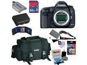 Canon 5D EOS 5D Mark III 22.3 MP Full Frame CMOS DSLR Camera (Body) Lens Kit + Canon Gadget Bag + LP-E6 Battery + 32GB Accessory Kits