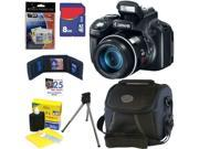 Canon SX50 PowerShot SX50 HS 12.1 MP Digital Camera with 50x Optical IS Zoom + 6pc Bundle 8GB Best Camera Kit