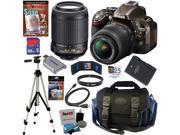"NIKON D5200 24.1 MP CMOS Digital SLR Camera (Bronze) with 18-55mm f/3.5-5.6G AF-S DX VR and 55-200mm f/4-5.6G ED IF AF-S DX ""VR"" Zoom-Nikkor Lenses + EN-EL14 Battery + 10pc Bundle 32GB Deluxe Accessor"