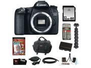 "Canon 70d EOS 70D 20.2 MP Digital SLR Camera w/ Dual Pixel CMOS AF (Body Only) + 32GB Memory Card + Replacement Battery + Card Reader + Camera Case + Spider Tripod 10"" + Accessory Kit"