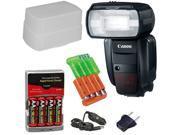 CANON Speedlite 600EX-RT Flash + 3pc best Flash Kit for Canon EOS 1D, 1DS, 1D X, 5D Mark II III, 60D, 7D, 70D Rebel T3, T3i, T4i, T5i Digital SLR Cameras