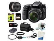"Sony a58 Sony SLT-A58K SLT-A58 A58 with 18-55mm Zoom Lens 20.1MP DSLR Camera w/ 2.7"" LCD Screen (Black) + Sony SAL-35F18 DT 35mm f/1.8 Prime Lens + Sony 32GB Memory Card + Kit"