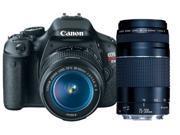 Canon t3i Canon EOS Rebel T3i 18 MP CMOS APS-C Sensor DIGIC 4 Image Processor Digital SLR Camera with EF-S 18-55mm f/3.5-5.6 IS Lens + Canon EF 75-300mm f/4-5.6 III Telephoto Zoom Lens