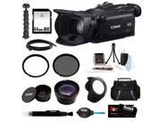 Canon g30 VIXIA HF G30 Full HD Video Camcorder + 64GB Memory Card + 58mm UV Protector + 58mm Circular Polarizing Lens Filter + 58mm Telephoto Lens + 58mm Wide Angle Lens + 58mm Hard Lens Hood + Kit