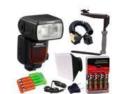 Nikon SB-910 AF Speedlight Flash for Nikon Digital SLR Cameras + Deluxe Flash Bracket Accessory Kit
