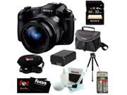 Sony DSCRX10 DSC-RX10/B RX10 Cybershot 20.2 MP Digital Still Camera with 3-Inch LCD Screen + Sony 32 GB SDHC Class-10 Memory Card + Replacement NP-FW50 battery + Sony Camera Case + Mini Tripod + Kit