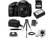Sony A3000 ILCE-3000K ILCE-3000KB 20. 1MP A3000 Interchangeable Lens Camera with 18-55mm Zoom Lens with Additional Battery for Sony NP-FW50 + Sony 32 GB SD Card + Sony Large System Case + Kit