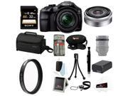 Sony A3000 ILCE-3000 ILCE-3000KB Sony 20. 1MP Interchangeable Lens Camera with 18-55mm Zoom Lens + Sony DSLR SEL30M35 SEL-30M35 30mm F3.5 Nex Lens + Sony 32GB Class 10 UHS-1 Memory Card + Kit