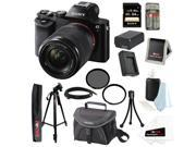Sony 24.3 MP a7K ILCE-7K/B ILCE7KB Full-Frame Interchangeable Lens Camera with 28-70mm Lens + Sony 64GB SD Card + Replacement NP-FW50 Battery & Charger + Tiffen 55mm UV Protector & Polarizer  + Kit