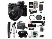 Sony 24.3 MP a7K ILCE-7K/B ILCE7KB Full-Frame Interchangeable Digital Lens Camera with 28-70mm Lens + Sony 64GB SDHC Memory Card + Replacement NP-FW50 Battery with Charger + Tiffen Kit  + Kit
