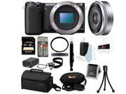 Sony NEX-5T NEX-5T/B NEX-5TB Compact Interchangeable Lens Digital Camera (Body Only) + Sony SEL16F28 16mm f/2.8 Wide-Angle Lens + Sony 32GB SD Card + Replacement Batter for NP-FW50 + Accessory Kit