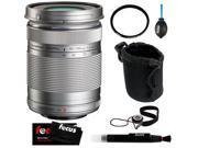 Olympus M.Zuiko Digital ED 40-150mm f4.0-5.6 R Zoom Lens + Tiffen 58mm UV Protector Filter + Small DSLR Lens Pouch + Accessory Kit