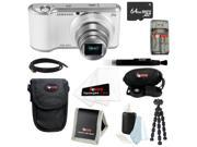 Samsung GC200 16.3MP Galaxy Camera 2 w/ Android Jelly Bean Wifi in White + 64GB Best Camera Accessory Kit