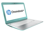 "HP Chromebook 14-Q020NR, Celeron 2955U , 2GB DDR3 , 16GB SSD, 14""HD LED (1366 x 768) Chrome OS, Ocean turquoise"