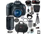 Canon T3i EOS Rebel T3i 18MP DSLR Camera & EF-S 18-55mm f/3.5-5.6 IS Type II Lens Kit + Canon EF-S 55-250mm f/4-5.6 IS STM + Best DSLR Kit