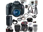 Canon T3i EOS Rebel T3i 18MP DSLR Camera & EF-S 18-55mm f/3.5-5.6 IS Type II Lens Kit + Canon EF-S 55-250mm f/4-5.6 IS STM + 64GB SDHC Memory Card + Best DSLR Kit