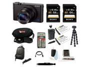 Sony DSC-RX100M III Cyber-shot Digital Still Camera + 64GB Sony Memory Card + Best Camera Kit