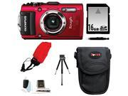 Olympus Stylus TOUGH TG-3 Digital Camera (Red) with 16GB Deluxe Accessory Kit
