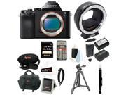 Sony a7 - Alpha a7S ILCE-7S/B Full Frame Mirrorless Camera with Metabones Canon EF Lens to Sony Alpha Smart Adapter, Mark III + Sony 64GB SD Card + Best mirrorless Camera Kit