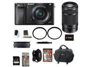 Sony A6000 Alpha A6000 Mirrorless Digital Camera with 16-50mm and 55-210mm Lens Bundle and Best 32GB  Mirrorless Camera Kit
