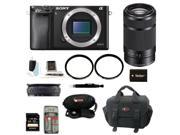 Sony A6000 Alpha A6000 Mirrorless Digital Camera (Body) with 55-210mm Lens and 32GB Best Mirrorless Camera Kit