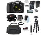 Nikon COOLPIX P600 Digital Camera (Black) with 32GB Deluxe Accessory Kit