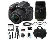 Nikon D3300 DSLR Camera with 18-55mm and Sigma 70-300mm Lens Bundle and 32GB Deluxe Accessory Kit