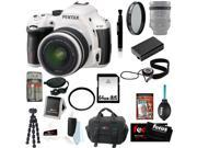 Pentax K-50 16MP Digital SLR Camera Kit with DA L 18-55mm WR f3.5-5.6 Lens (White) + Tiffen UV Protector & Polarizing Filter + Focus Camera Case+ 64GB Memory Card + Kit