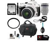 Pentax K-50 16MP Digital SLR Camera with 18-55mm White + 16GB Accessory Kit