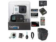 GoPro HERO3+ Black Edition Camera + Sony 32GB Class 10 Memory Card + Wasabi Power Battery + Accessory Kit