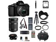 Olympus OM-D E-M10 Mirrorless Micro Four Thirds Digital Camera with 14-42mm Lens (Black) and Olympus M. Zuiko Digital ED 40-150mm f/4.0-5.6 R Micro 4/3 Zoom Lens (Black) plus 64GB Deluxe Accessory Kit