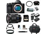 Sony ILCE7R/B 36.3 MP a7R Full-Frame Interchangeable Digital Lens Camera (Body) with Sony 16-35mm Vario-Tessar T FE F4 ZA OSS E-Mount Lens and 64GB Deluxe Accessory Kit