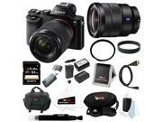 Sony ILCE7K/B 24.3 MP a7K Full-Frame Interchangeable Digital Lens Camera with 28-70mm Lens plus Sony 16-35mm Vario-Tessar T FE F4 ZA OSS E-Mount Lens and 64GB Deluxe Accessory Kit