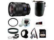 Sony SEL1635Z Vario-Tessar T* FE 16-35mm F4 ZA OSS Wide Angle Zoom Lens with Sony 64GB SDHC Memory Card + Deluxe Accessory Bundle