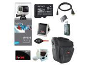 GoPro HERO4 SILVER Edition (Waterproof Housing) Sony 16GB micro SD Class 10 + Multi Card Reader + Micro HDMI Cable + Accessory Bundle