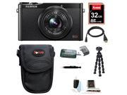 Fujifilm XQ1 12MP Digital Camera with 3.0-Inch LCD (Black) plus 32GB Deluxe Accessory Bundle