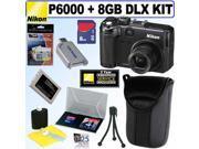Nikon Coolpix P6000 13.5MP Digital Camera + 8GB Deluxe Accessory Kit