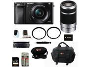 Sony a6000: A6000 Alpha A6000 Mirrorless Digital Camera with 16-50mm and 55-210mm Lens Bundle and 32GB Deluxe Accessory Kit