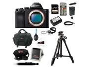 Sony ILCE7R/B ILCE7RB 36.3 MP a7R Full-Frame Interchangeable Digital Lens Camera Bundle + Sony 64GB SD Card +  Replacement NP-FW50 Battery with Charger + Accessory Kit